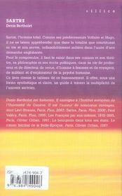 Sartre L'Ecrivain Malgre Lui - 4ème de couverture - Format classique