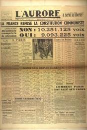 Aurore (L') N°534 du 06/05/1946 - Couverture - Format classique