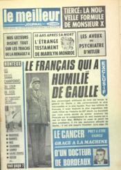 Meilleur Journal (Le) N°108 du 26/08/1972 - Couverture - Format classique