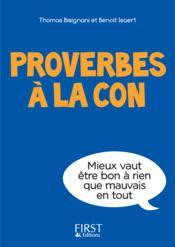 Proverbes à la con - Couverture - Format classique