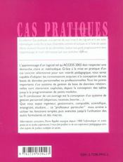 Initiation A Access 2002 De La Conception De Vos Tables A La Creation De Macros Et Procedures Visual - 4ème de couverture - Format classique