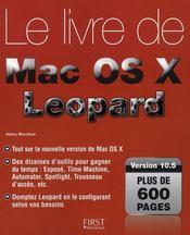 Livre de Mac os x 10.5 leopard - Intérieur - Format classique
