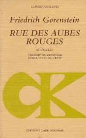 Rue Des Aubes Rouges - Couverture - Format classique