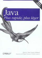Java Plus Rapide Plus Leger - Intérieur - Format classique