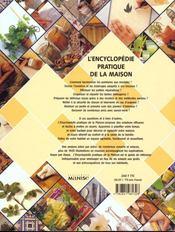 L'encyclopédie pratique de la maison - 4ème de couverture - Format classique