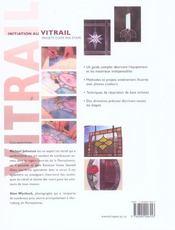 Initiation Au Vitrail - 4ème de couverture - Format classique