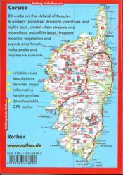Corsica (en anglais) - 4ème de couverture - Format classique
