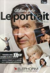 Vente livre :  Ateliers photo : le portrait. formation video complete en plus de 1h50. dvd-rom pc-mac  - Delval Philippe