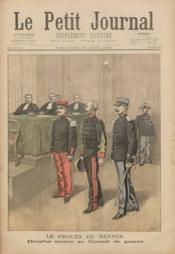 Petit Journal Illustre (Le) N°457 du 20/08/1899 - Couverture - Format classique