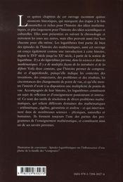 Histoires de logarithmes - 4ème de couverture - Format classique