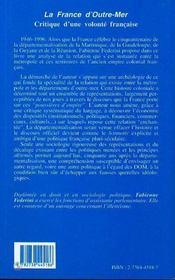 France D'Outre-Mer ; Critique D'Une Volonte Francaise - 4ème de couverture - Format classique