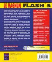 Le Magnum Flash 5 - 4ème de couverture - Format classique