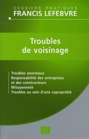 Vente  Troubles du voisinage  - Redaction Efl