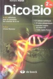 Dico de bio (2e édition) - Couverture - Format classique