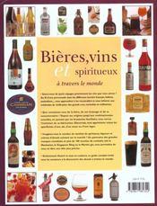 Bieres et vins spiritueux - 4ème de couverture - Format classique