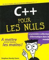 C++ Pour Les Nuls - Intérieur - Format classique