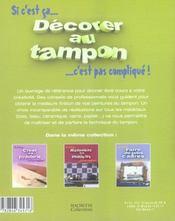 Decorer Au Tampon - 4ème de couverture - Format classique