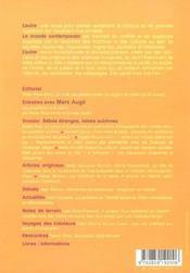 Revue L'Autre T.14 ; Bébés Etranges, Bébés Sublimes - 4ème de couverture - Format classique