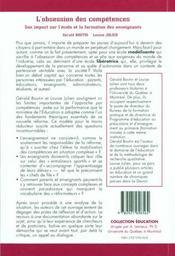 Obsession des competences (l') - 4ème de couverture - Format classique