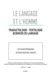 Les taches-problèmes en didactique des langues - Couverture - Format classique