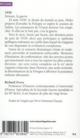 Vente  1939 ; demain, la guerre  - Richard Overy