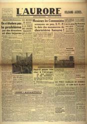 Aurore (L') N°546 du 19/05/1946 - Couverture - Format classique