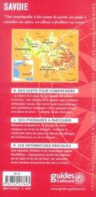 Savoie - 4ème de couverture - Format classique