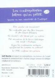 Le petit livre des contrepèteries t.2 - 4ème de couverture - Format classique