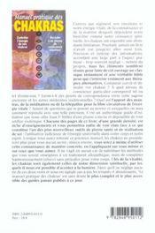 Manuel pratique des chakras - 4ème de couverture - Format classique