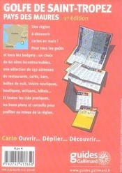 Golfe de Saint-Tropez ; pays des Maures - 4ème de couverture - Format classique