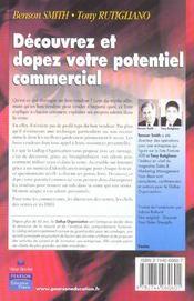 Decouvrez et dopez le potentiel commercial - 4ème de couverture - Format classique