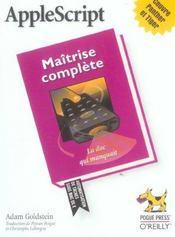 Applescript Maitrise Complete - Intérieur - Format classique