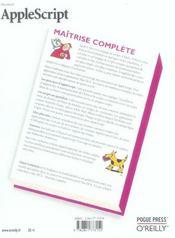 Applescript Maitrise Complete - 4ème de couverture - Format classique