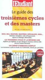 Le guides des troisièmes cycles et des masters - Intérieur - Format classique