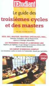 Le guides des troisièmes cycles et des masters - Couverture - Format classique