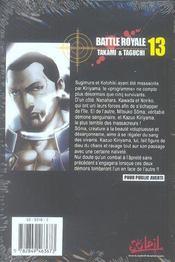 Battle royale t.13 - 4ème de couverture - Format classique