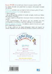 Concours En Ifis 2001 Sujets Officiels Et Corriges - 4ème de couverture - Format classique