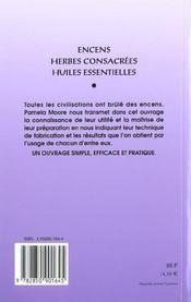 Livre des encens - 4ème de couverture - Format classique