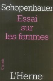Essai sur les femmes - Couverture - Format classique