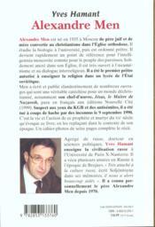 Alexandre Men - 4ème de couverture - Format classique