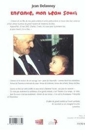 Enfance Mon Beau Souci - 4ème de couverture - Format classique