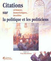 Citations Sur La Politique - Intérieur - Format classique