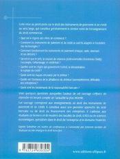 Droit du crédit - 4ème de couverture - Format classique