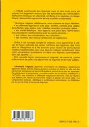 La Dietetique Par Les Legumes Et Les Fruits Secs - 4ème de couverture - Format classique