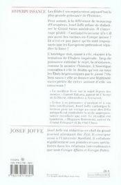 Hyperpuissance - 4ème de couverture - Format classique