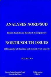 Analyse nord/sud n.1 ; relevé d'articles de théorie et de conjoncture - Couverture - Format classique