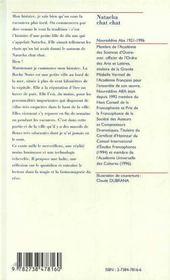 Natacha Chat Chat ; Conte Algerien - 4ème de couverture - Format classique