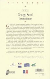 George sand ; terroir et histoire - 4ème de couverture - Format classique