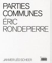 Parties Communes - 4ème de couverture - Format classique