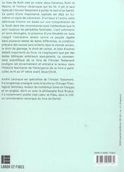 Le livre de ruth - 4ème de couverture - Format classique